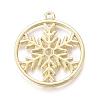 Christmas Alloy Open Back Bezel PendantsX-PALLOY-L228-002G-2
