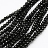 1 Strand Dyed Black Round Synthetic Turquoise Beads StrandsX-TURQ-G106-6mm-02C-1