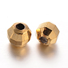 Faceted Round Brass Spacer BeadsKK-L129-52-2