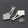 Fashionable Wedding Rhinestone Necklace and Stud Earring Jewelry SetsX-SJEW-S042-06-5