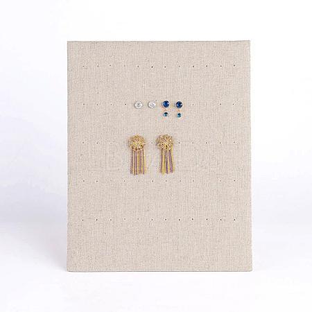 Rectangle Wood L-Shaped Earring Display StandEDIS-N004-03-1
