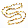 304 Stainless Steel Figaro Chain NecklacesNJEW-S420-003A-G-3