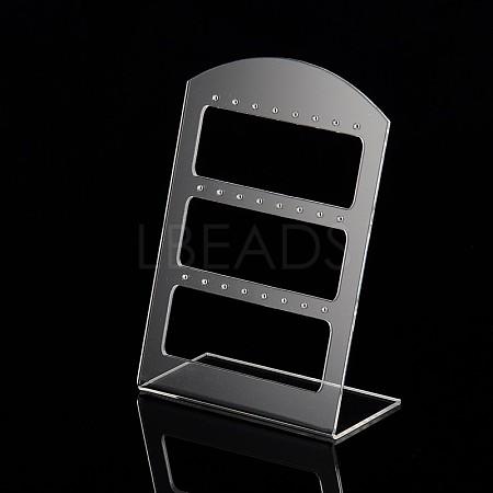 Organic Glass Earring Display RacksX-EDIS-N001-02B-1
