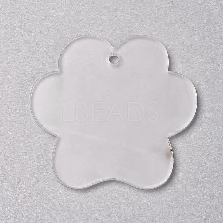 Transparent Blank Acrylic PendantsX-TACR-WH0002-08-1