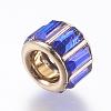 Brass Glass Rhinestone European BeadsCPDL-M017-M-3