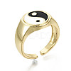 Brass Enamel Cuff RingsX-RJEW-S044-136-NF-1