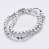 Electroplated Non-magnetic Synthetic Hematite Bead StrandG-E495-07C-2