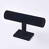 Velvet T-Bar Bracelet Display StandsX-BDIS-WH0003-04A-1