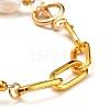 Natural Baroque Pearl Keshi Pearl Bracelets & Necklaces SetsSJEW-JS01105-4