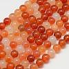 Natural Carnelian Beads StrandsG-N0006-8mm-17-1