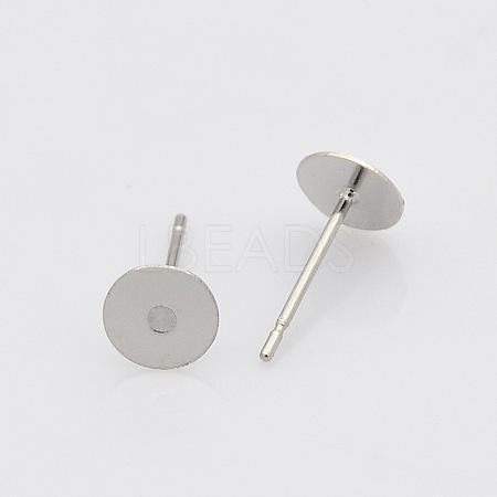 304 Stainless Steel Stud Earring FindingsSTAS-N019-17-6mm-1