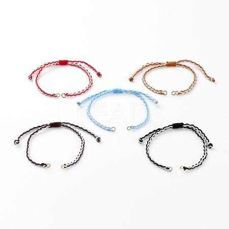 Adjustable Nylon Braided Cord Bracelet MakingAJEW-JB00874-1