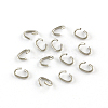 Oval 304 Stainless Steel Open Jump RingsX-STAS-R067-02-1