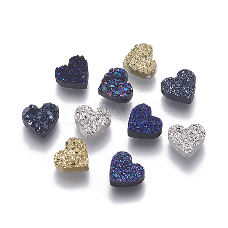 Imitation Druzy Gemstone Resin BeadsX-RESI-L026-D-1