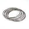 304 Stainless Steel Bangle Sets BJEW-O115-63-1