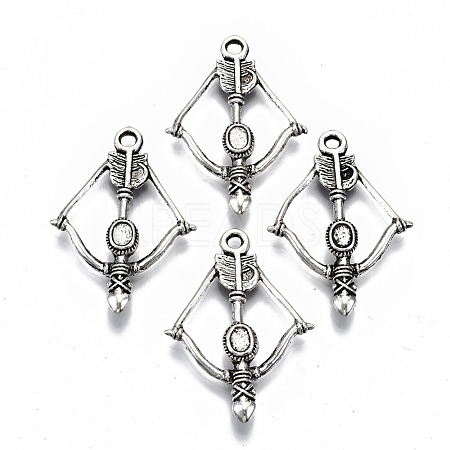 (Same Sku: TLF1538Y)Tibetan Style Alloy Pendant Cabochon Setting TIBEP-N009-017AS-RS-1