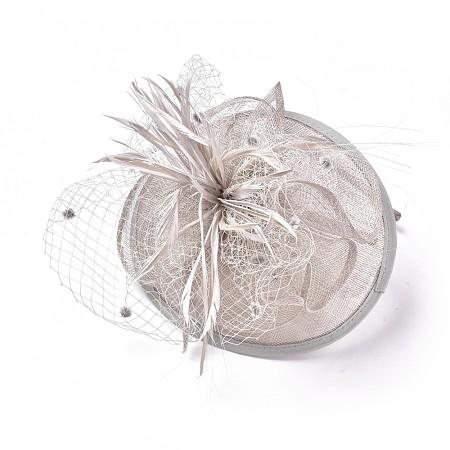 Elegant Gainsboro Fascinators UK for WeddingsOHAR-S170-03-1