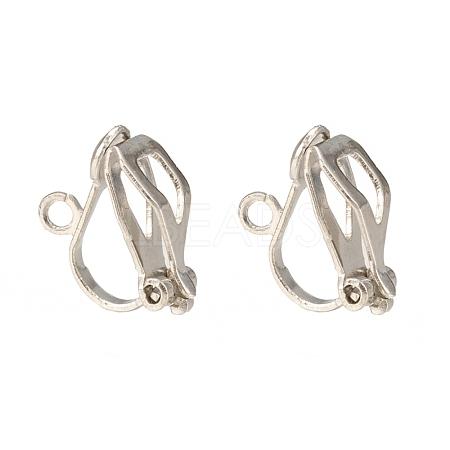 Brass Clip-on Earring FindingsX-EC109-NF-1