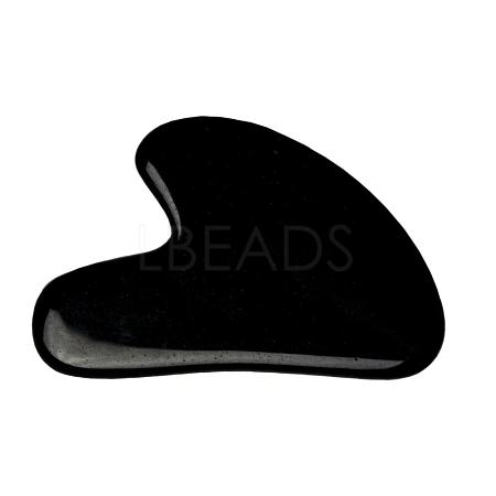 Natural Black Obsidian Gua Sha BoardsX-G-J306-03C-1