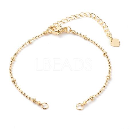 Brass Ball Chain Bracelet MakingAJEW-JB00936-1