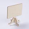 Wood Easel Chalkboard Place Card Holder BlackboardsX-AJEW-G017-04A-4