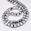 Faceted Cube Shaped Crystal Glass Beads StrandsEGLA-F016-C01-3