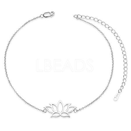 SHEGRACE® 925 Sterling Silver Link AnkletsJA123A-1