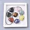 Natural Mixed Stone PendantsG-R461-27-B-2