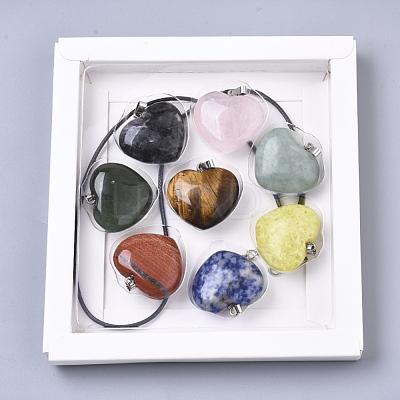 Natural Mixed Stone PendantsG-R461-27-B-1