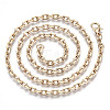 Brass Cable Chains Necklace MakingMAK-N034-004B-G-2