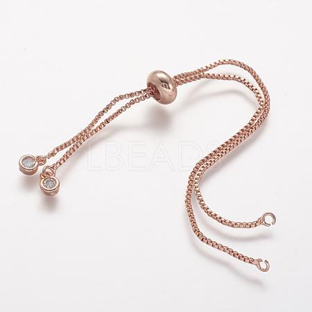 Rack Plating Environmental Brass Chain Bracelet MakingKK-A142-017RG-1