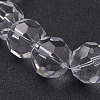 Faceted Glass Round Beads Strands X-GF20mmC01Y-2
