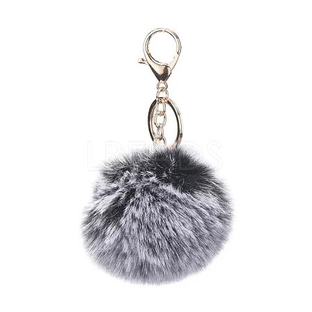 Pom Pom Ball KeychainX-KEYC-WH0016-13B-1