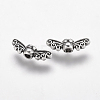 Tibetan Style Alloy Fairy Wing Beads X-TIBEB-6007-AS-LF-2