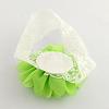 Cute Elastic Baby Lace Headbands Hair Accessories with Cloth FlowerX-OHAR-Q002-09F-2