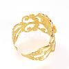Adjustable Brass Ring ShanksX-KK-R037-260G-3