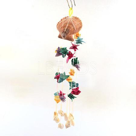 Dyed Seashell Aeolian BellsAJEW-Q108-01-1