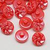 Taiwan Acrylic Shank ButtonsX-BUTT-F026-13mm-C15-1