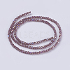 Electroplate Glass Beads StrandsX-GLAA-F076-FR12-2
