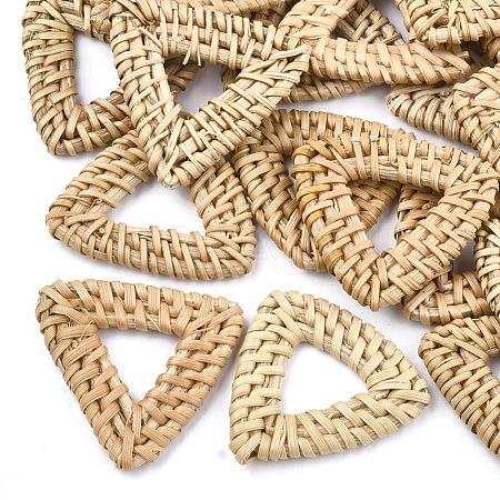 Handmade Reed Cane/Rattan Woven Linking RingsX-WOVE-T005-15A-1