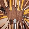 BENECREAT 40pcs/Set Ceramic Pottery Clay Model Home Craft ArtTOOL-BC0007-02-3