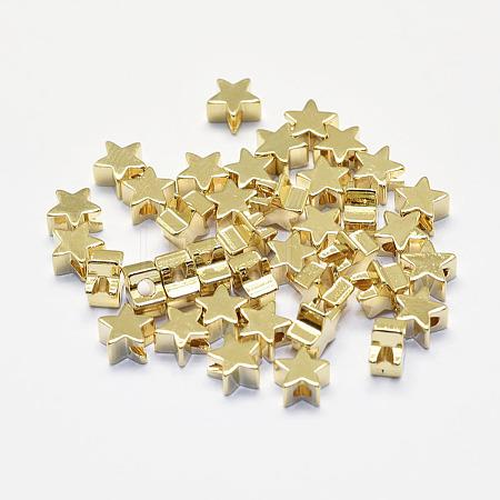 Long-Lasting Plated Brass BeadsKK-K193-A-056G-NF-1