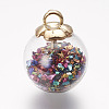 Glass Ball PendantsGLAA-P031-01-1