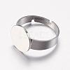 Adjustable 304 Stainless Steel Finger Rings ComponentsSTAS-I097-039P-2