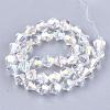 Electroplate Glass Beads StrandsEGLA-Q118-6mm-B17-2