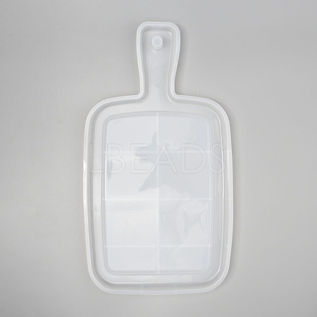Rectangle Handle Dinner Plate Silicone MoldsDIY-L021-59-1