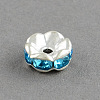Brass Grade A Rhinestone Bead Spacers RB-S033-A-2