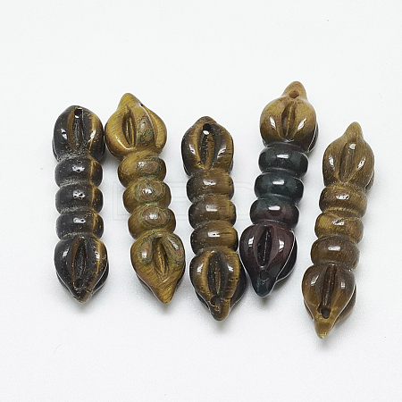 Natural Tiger Eye Links/Connectors G-T122-13B-1
