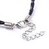 Trendy Braided Imitation Leather Necklace MakingX-NJEW-S105-017-4