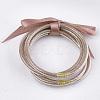 PVC Plastic Bangle SetsBJEW-T008-09C-1